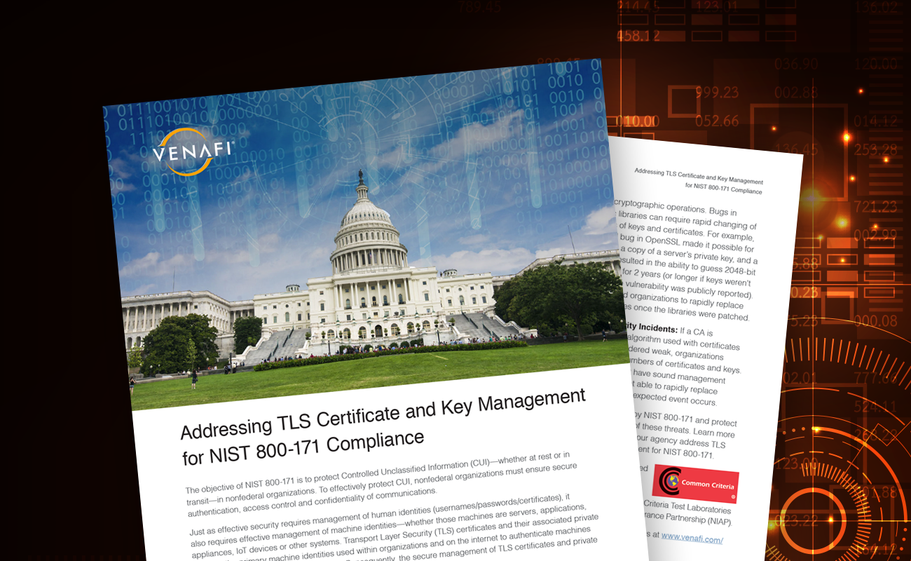 Addressing TLS Certificate and Key Management for NIST 800-171 Compliance