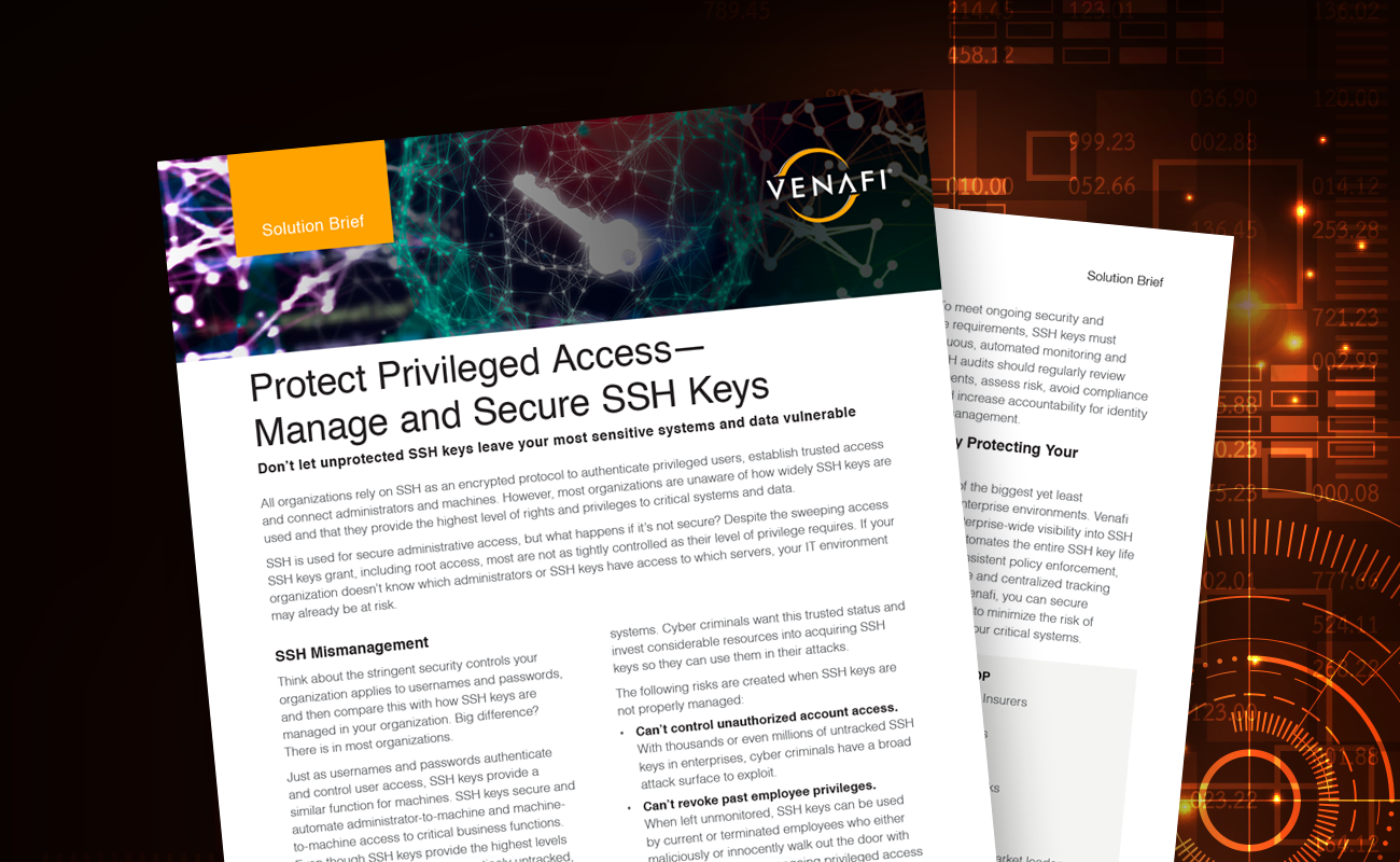 Manage and Secure SSH Keys - Solution Brief