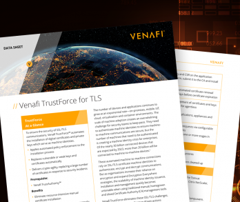 Venafi TrustForce for TLS